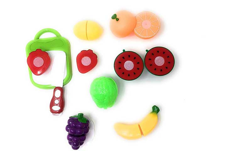 Blossom 10 Piece Set Slicable Fruit Basket Toy