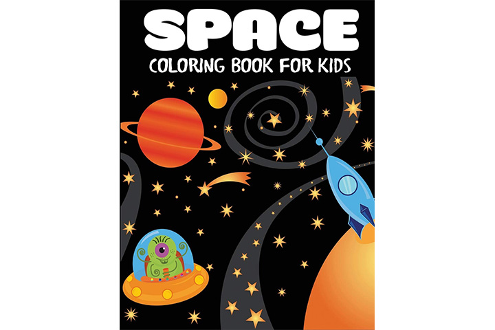 Blue Waves Press Space Coloring Book for Kids