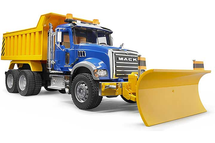 Bruder Granite Dump Truck With Snow Blade