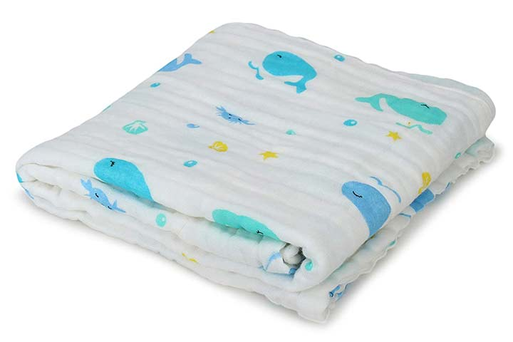 Cassie Pop Baby Muslin Cotton Bath Towel