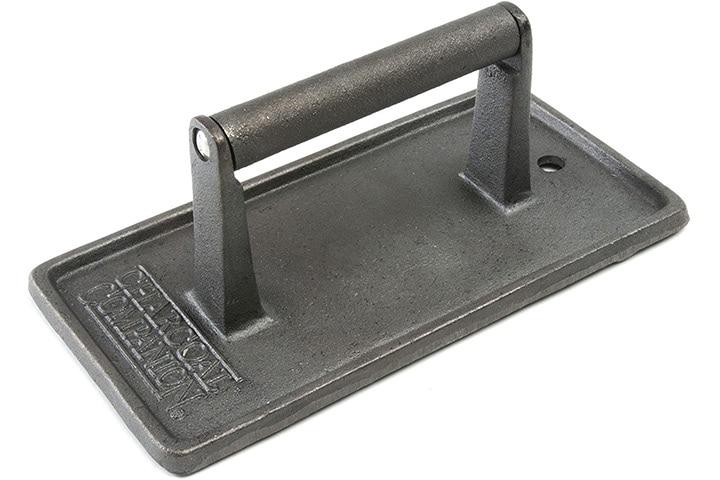 Charcoal Companion Cast Iron Rectangular Grill Press