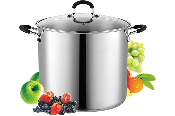 Cook N Home 02441 12 Stainless Steel Stockpot
