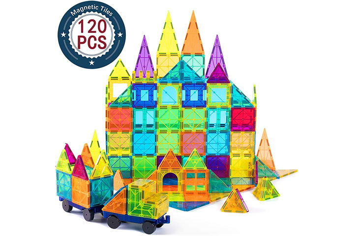 Cossy Magnetic Building Tiles Set (120 Pcs)