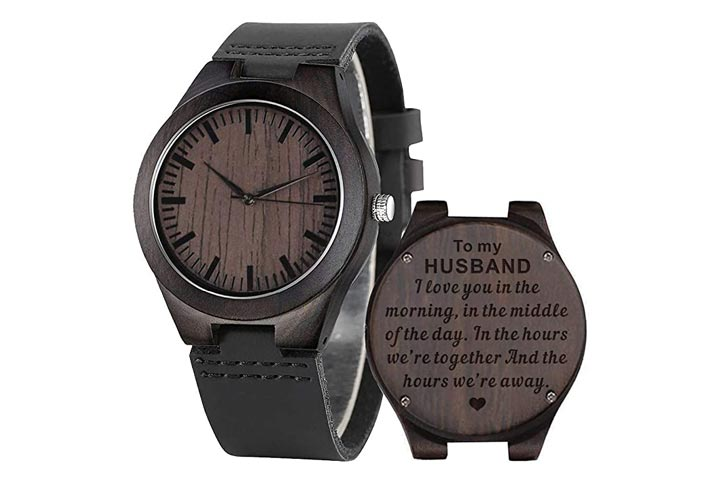 Cosvog Custom Engraved Wooden Watch