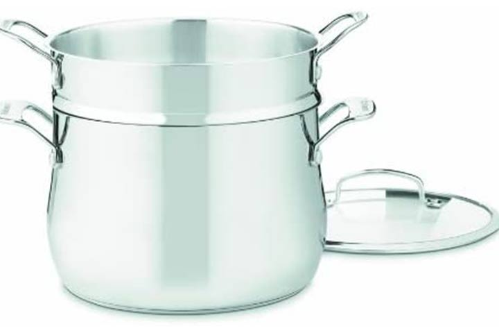 Cuisinart Contour Stainless 3-Piece Pasta Pot with Cover