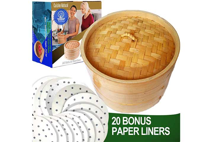 Cuisine Natural Bamboo Steamer Cooker