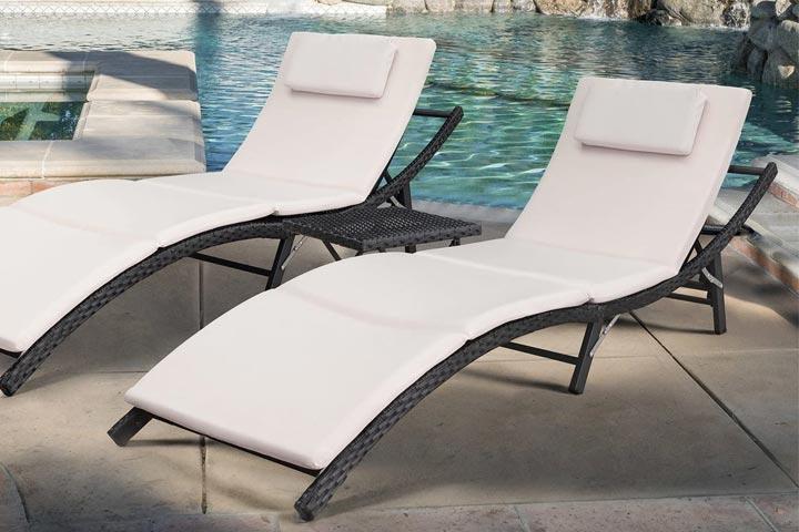Devoko 3-Piece Chaise Lounge Set
