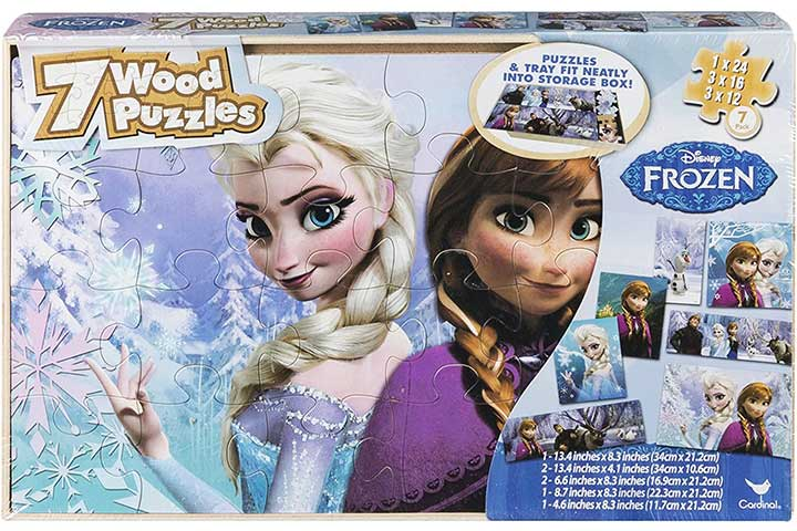 Disney Frozen 7 Wood Puzzles