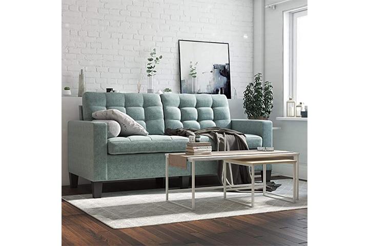 Dorel Living Emily Upholstered Sofa Couch