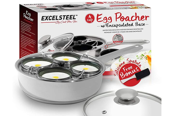 ExcelSteel Induction Cooktop Egg Poacher