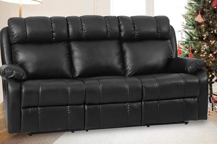 FDW Recliner Leather Sofa