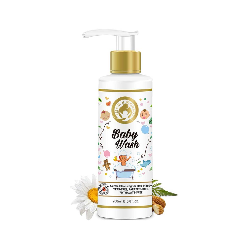 Mom & World Baby Wash Gentle Cleansing For Hair & Body