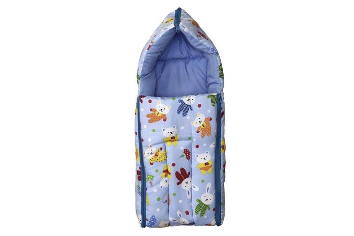 Fun Baby 3 in 1 Multi Use Baby Cotton Bed Cum Sleeping Bag