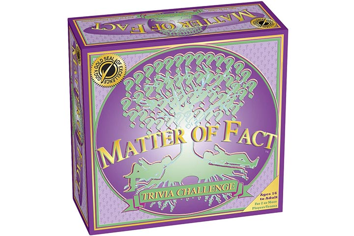 Game Development Corp Matter Of Fact; The Trivia Challenge Board Game