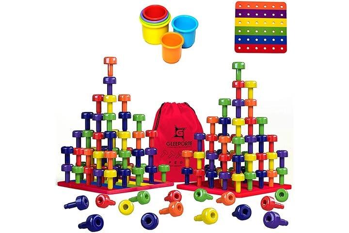 Gleeporte Stacking Peg Board Toy Set