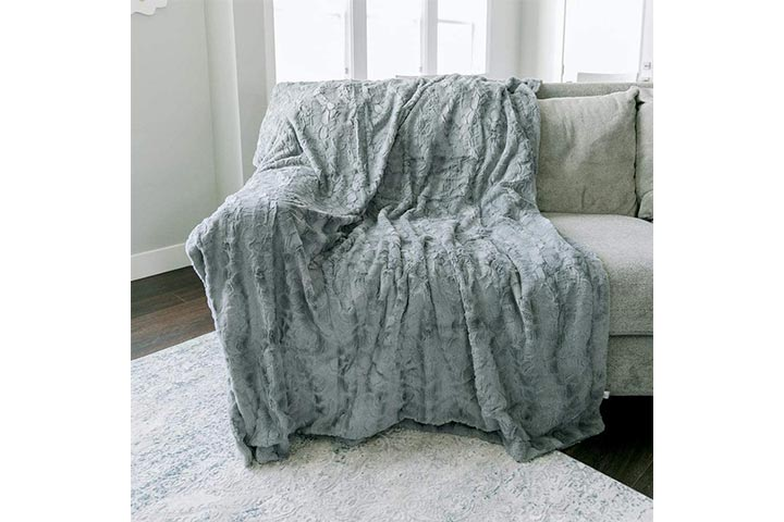 Graced Soft Luxuries Faux Fur Throw Blanket