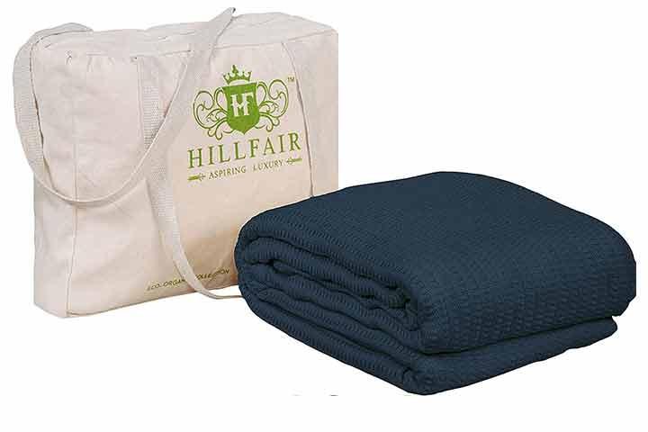 HillFair 100% Certified Organic Cotton Blanket