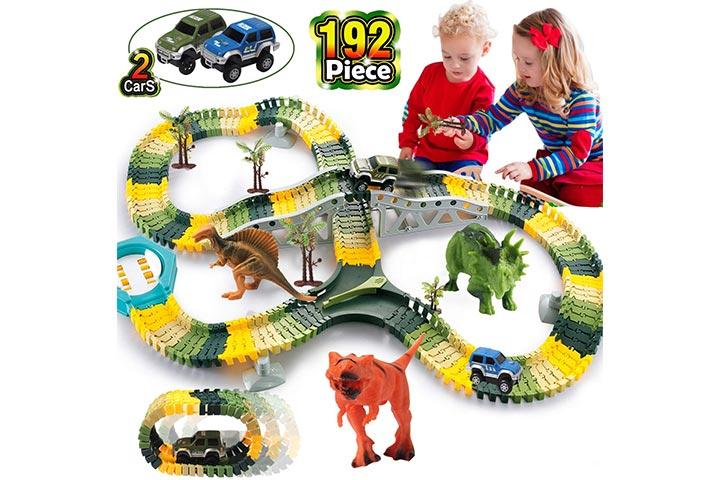 Homofy Dinosaur Toys Race Car Track