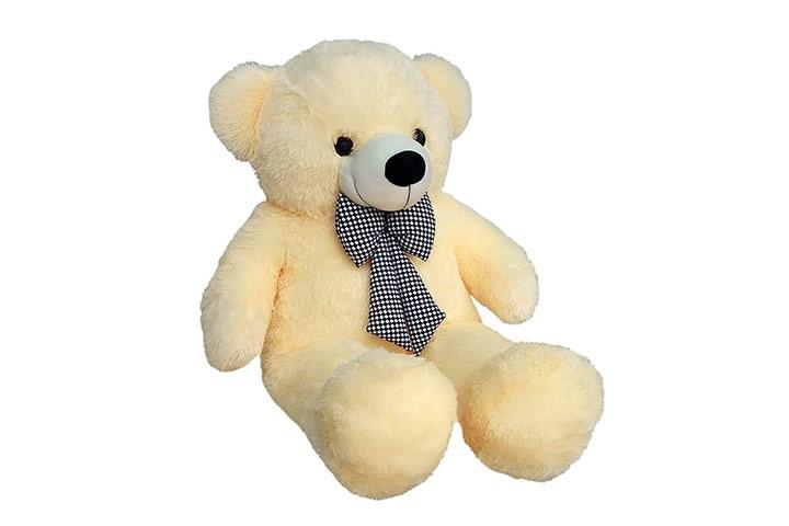 Jitto 3 Feet Hegtable Teddy Bear With Neck Bow