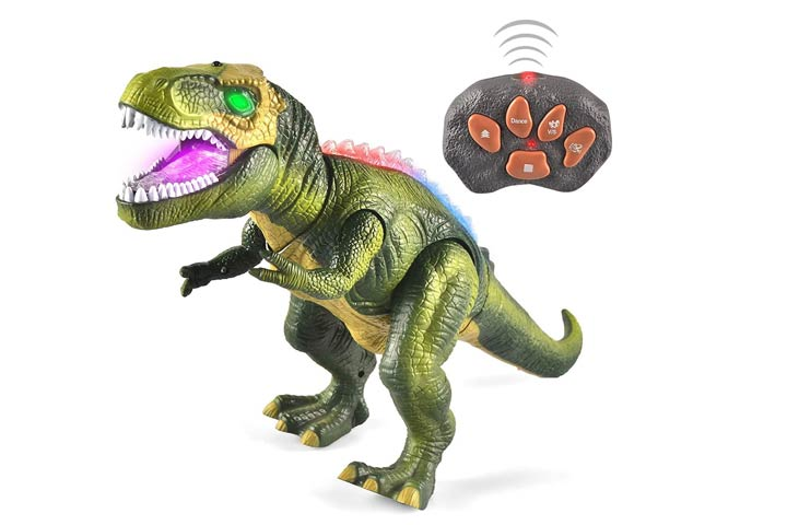 Joyin LED Light Up Remote Control Dinosaur Toys With Glowing Eyes
