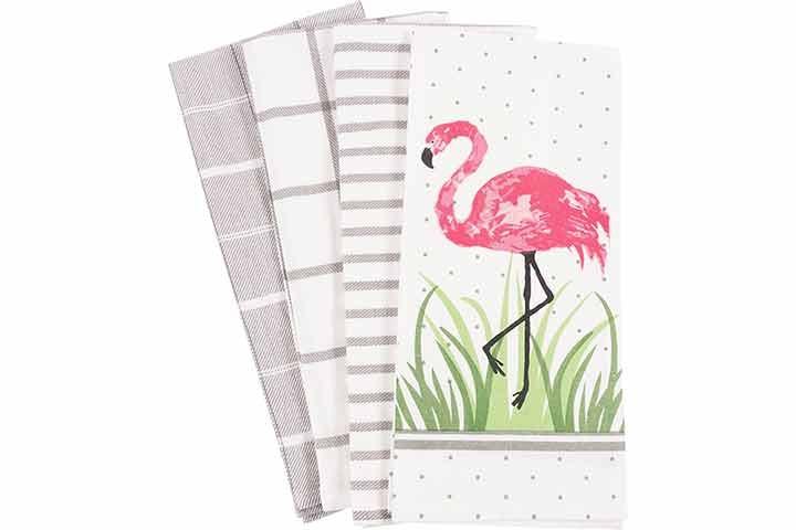 KAF Home Pantry Flamingo Kitchen Dish Towel