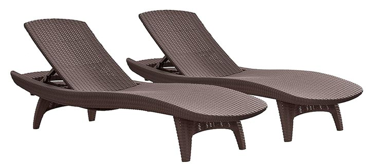 Keter Pacific Sun Outdoor Patio Chaise Lounges