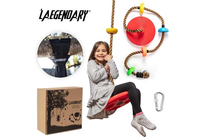 LAEGENDARY Climbing Rope Tree Swing