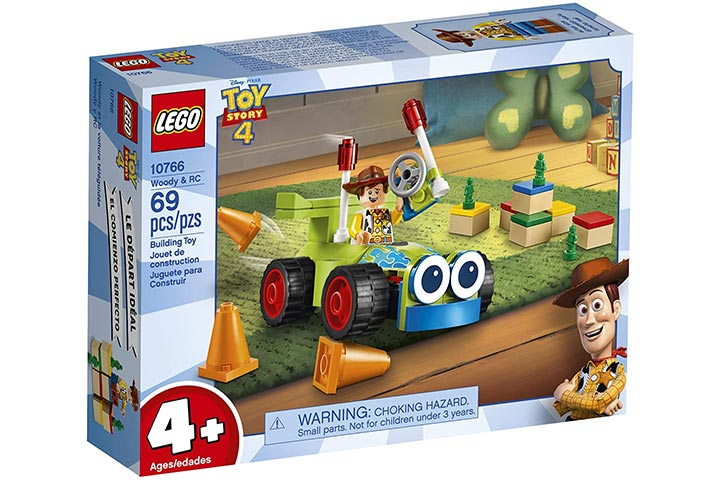 Lego Disney Pixar's Toy Story 4 Woody & RC 10766 Building Kit