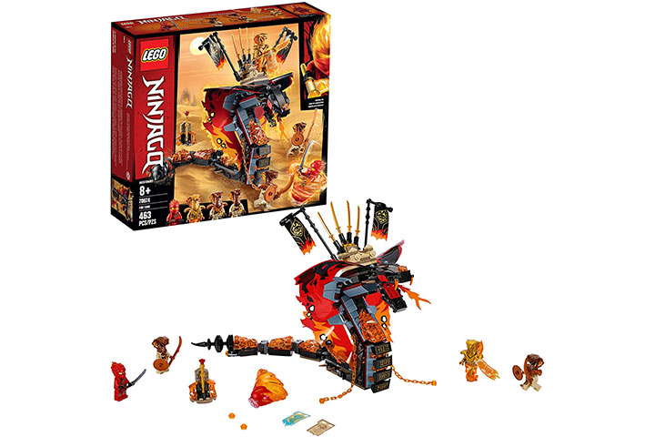 Lego Ninjago Fire Fang Snake Action Toy Building Set