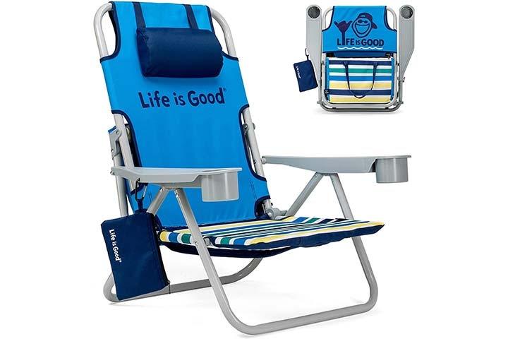 Life is Good Beach Chair