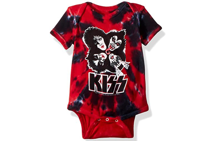 Liquid Blue Baby Boys' Kiss Faces Burst Onesie