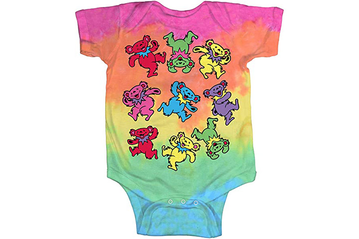 Liquid Blue Baby Grateful Dead Spiral Dancing Bears Onesie