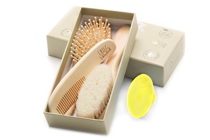 Little Tinkers World Wooden Baby hairbrush