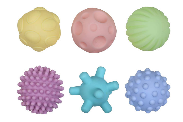 Lovelap Multi Textured Grab Balls for Baby
