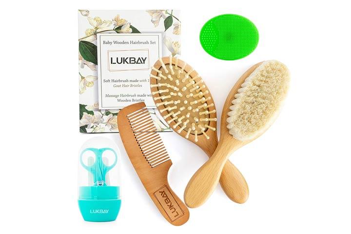 Lukbay Toddler hairbrush Combo Set