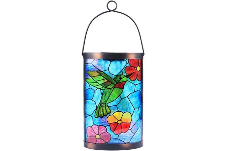 MUMTOP Hanging Solar Lantern Hummingbird Lights Tabletop Lamp