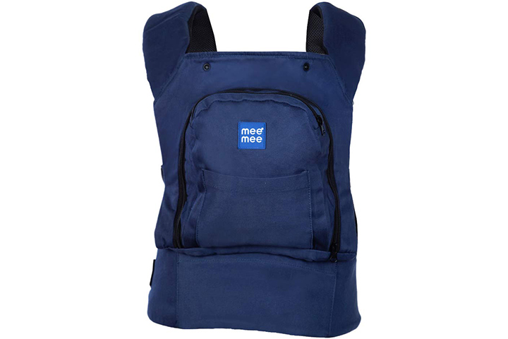 Mee Mee Light Weight Baby Carrier (Lightweight Breathable, Navy Blue)