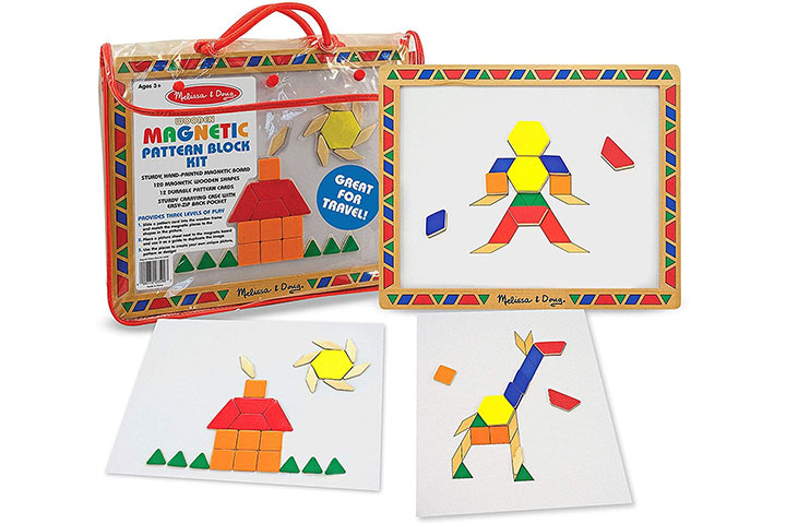 Melissa & Doug Deluxe Magnetic Pattern Blocks Kit