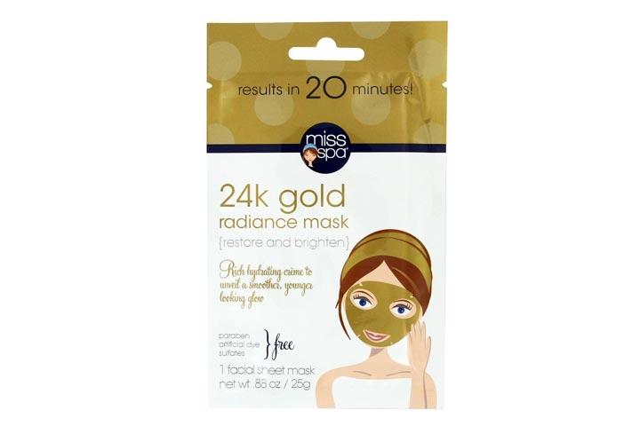 Miss Spa 24K Gold Radiance Facial Sheet Mask