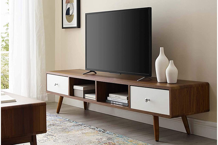 Modway Transmit 70in Mid-Century Modern Media Console TV Stand