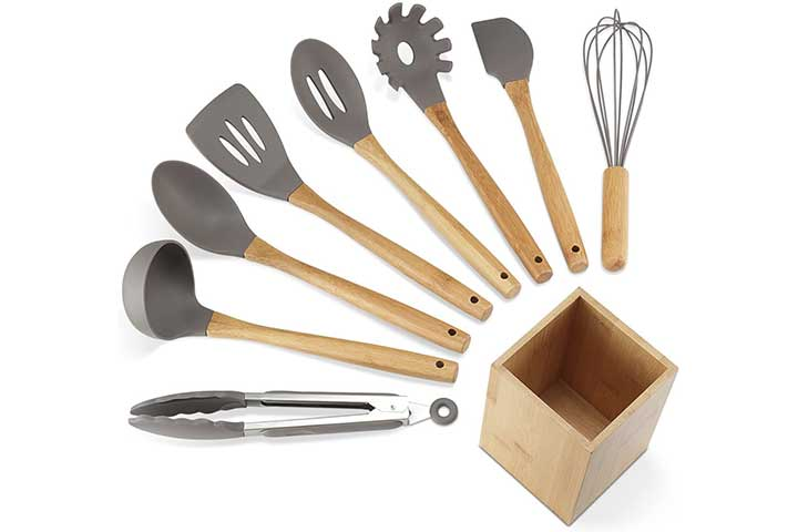 NEXGADGET Silicone Kitchen Utensils Set