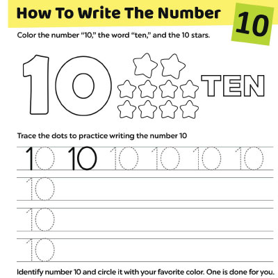 Tracing Numbers Worksheets For Kids - Free & Printable MomJunction