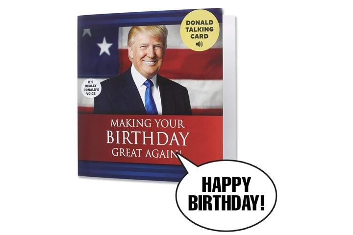 Our Friendly Forest Talking Trump Birthday Card