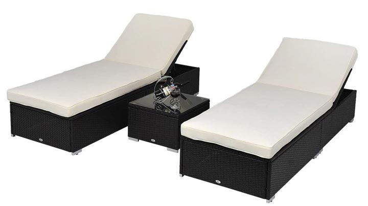Outsunny Chaise Lounge Set