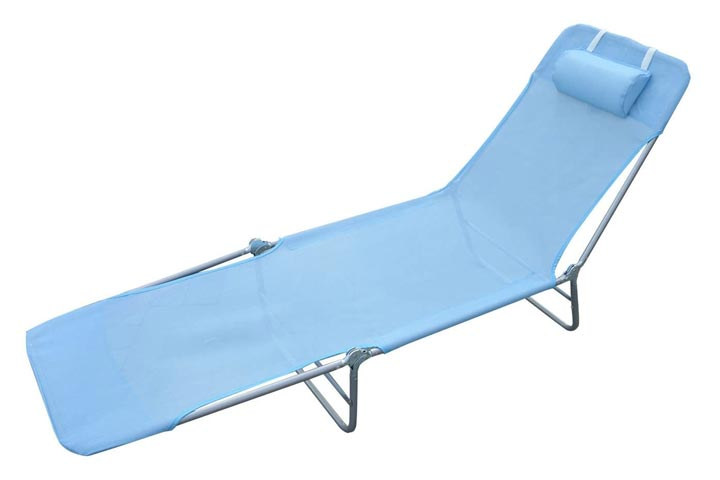 Outsunny Mesh Chaise Lounge