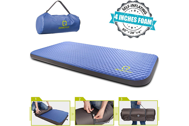 QOMOTOP Self-Inflating Foam Mattress