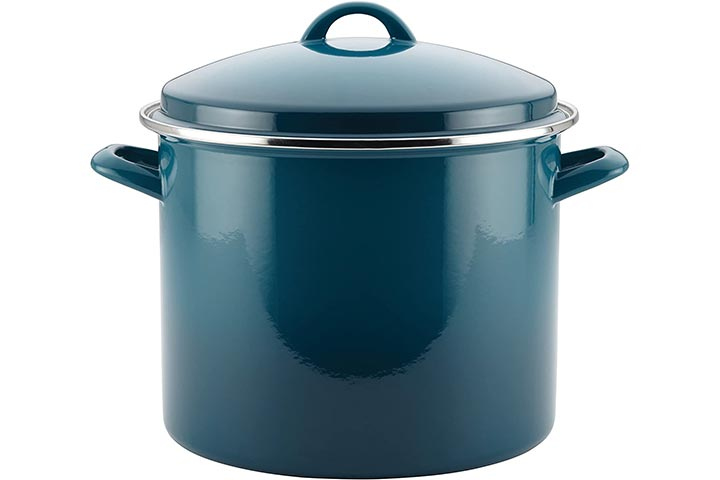 Rachael Ray 46326 Enamel on Steel Stock Pot