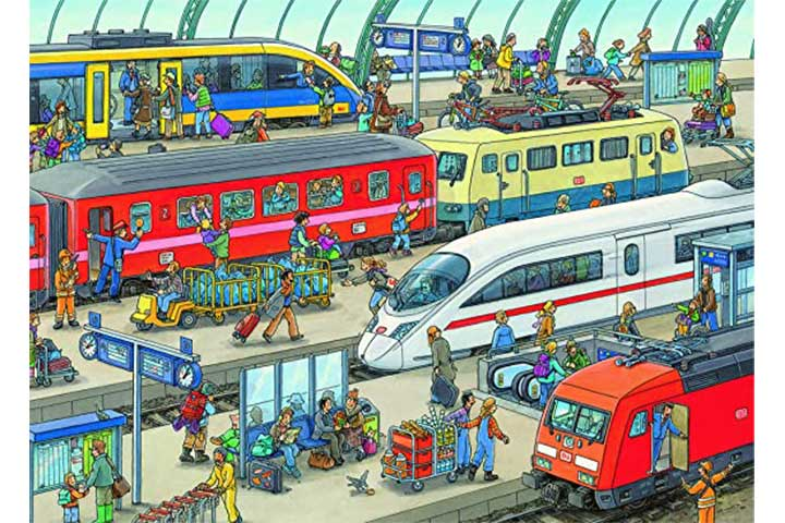 Ravens burger Railway Station Jigsaw Puzzle
