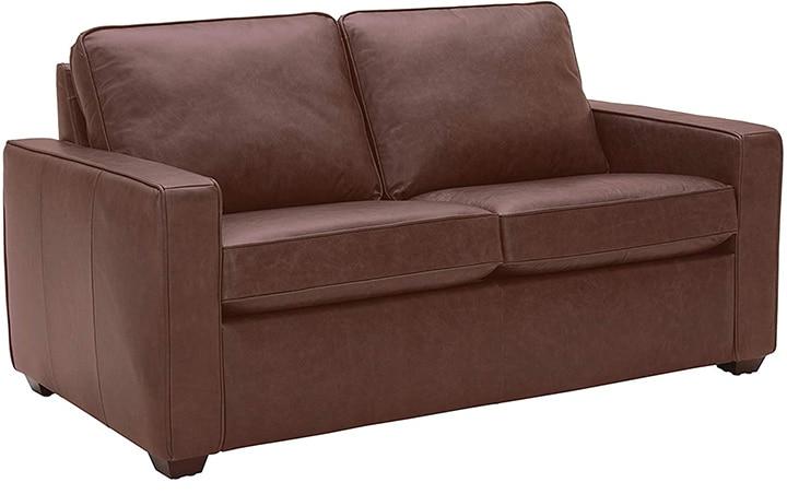 Rivet Leather Loveseat Sofa