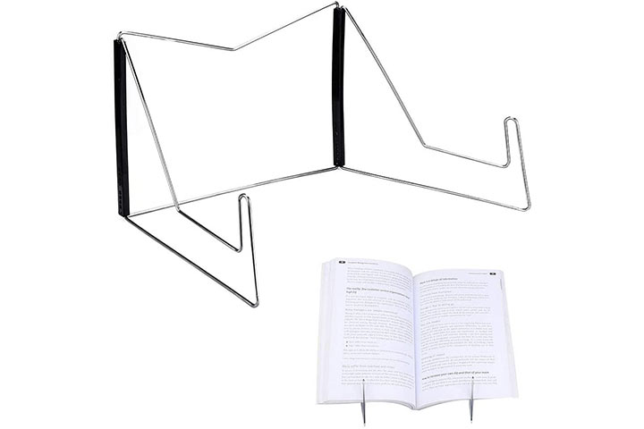 SSAWcasa Metal Wire Book Stand